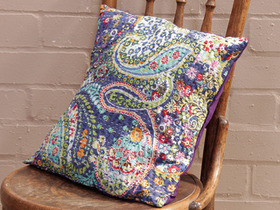 View our  Purple Floral Handstitched Cushion Cover from the  Soft Furnishings collection