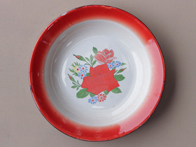 View our  Red Floral Enamel Bowl from the  Tableware collection