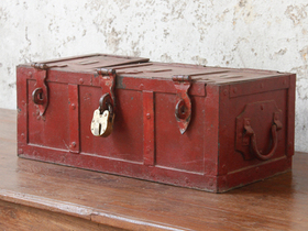 View our  Red Storage Chest from the  Old Travel Trunks collection