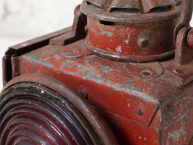 Vintage Red Railway Lamp Thumbnail