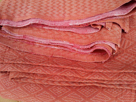 Red Retro Goemetric Bedcover Thumbnail