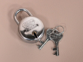 View our  Small Round Padlock from the  Old Wooden Chests, Trunks & Boxes collection