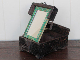 Rustic Barber Box With Mirror Thumbnail