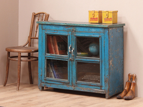 Vintage Blue Display Cabinet Thumbnail