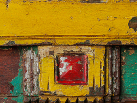 Rustic Yellow Wall Mirror Thumbnail