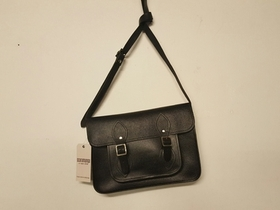 View our  SECONDS Classic Black leather satchel 11.5 inch from the  Sold collection