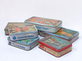 View our  Set Of 3 Colourful Old Tins from the  2016 Black Friday Deals collection