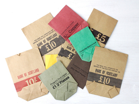 View our  Vintage Bank Pocket Bags from the  Vintage Art  collection