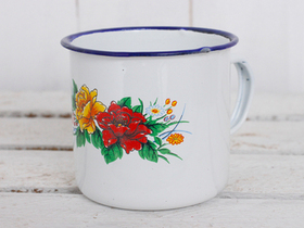Small Floral Enamel Mugs (Set Of 4) Thumbnail