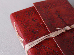 Small Leather Notebook Embossed Cover Thumbnail