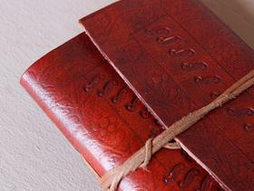 Small Leather Wrap Journal Embossed Thumbnail