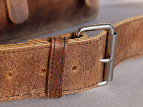 Small Retro Leather Satchel 11 Inch Thumbnail