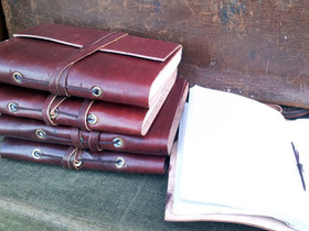 Small Rustic Leather Wrap Journal Thumbnail