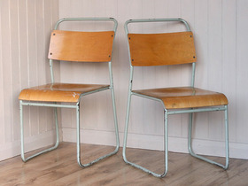 Vintage Stacking Chairs (Pair) Thumbnail