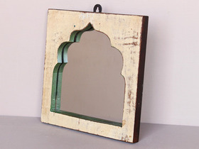 Upcycled Cream Temple Mirror Thumbnail