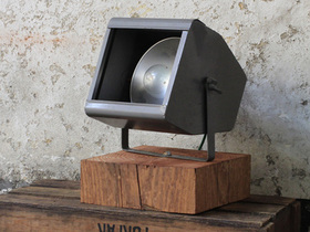 View our  Upcycled Vintage Theatre Lamp By Strand Electric from the  For The Home collection