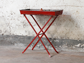 View our  Upcycled Vintage Ship Tray Stand from the  Vintage Shelving collection