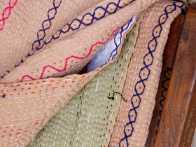 View our  Pink Vintage Kantha Blanket from the  Soft Furnishings collection