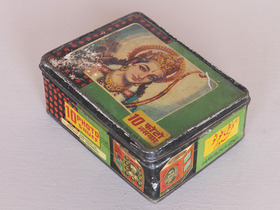 View our  Old Colourful Storage Tin from the  Old Travel Trunks collection