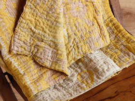 View our  Vintage Gold Kantha Blanket from the  Soft Furnishings collection