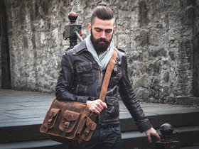 View our Men Vintage Leather Flight Bag 2 from the Men Leather Satchels & Bags collection