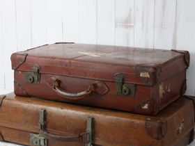 Vintage Leather Suitcase Thumbnail