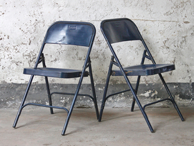 View our  Vintage Metal Folding Chairs - Blue from the  Old Chairs, Stools & Benches collection