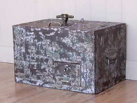View our  Vintage Metal Strong-Box Safe from the  Old Wooden Chests, Trunks & Boxes collection