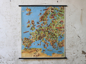 Vintage Pictorial Wall-Map of Europe Thumbnail