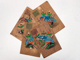 View our  Vintage Postcard - Kingfisher from the  Vintage Postcards & Posters collection