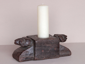 View our  Vintage Teak Ram Candle Holder from the  Vintage Wooden Candlesticks collection