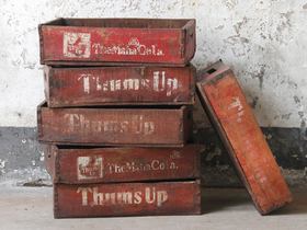 View our  Vintage Thums Up Soda Crate from the  Old Wooden Chests, Trunks & Boxes collection