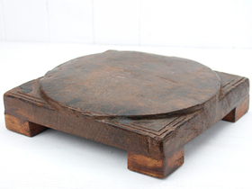 View our  Vintage Chapati Plate from the  Vintage Wooden Bowls collection