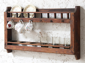 View our  Wall Plate And Cup Rack from the  Vintage Cabinets & Cupboards collection