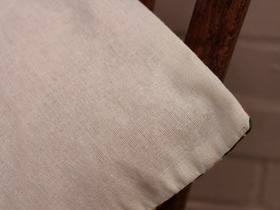 White Tropical Handstitched Cushion Cover Thumbnail
