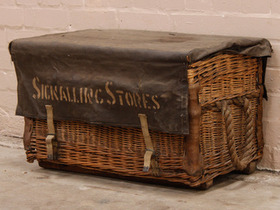 View our  Vintage Travelling Signaling Stores Basket from the   collection