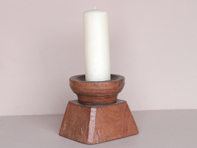 View our  Wooden Candle Holder from the  Vintage Wooden Candlesticks collection
