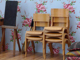 Vintage School Chairs Thumbnail