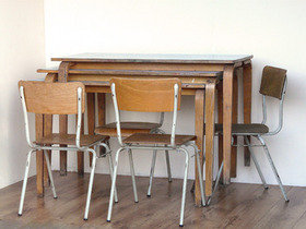 Vintage School Dining Table Thumbnail