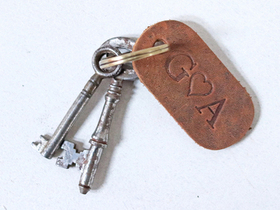 Small Leather Keyring Thumbnail