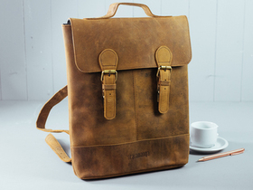Mini Soho Leather Backpack For Men Thumbnail
