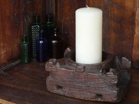 Old Carved Candleholder 700 Thumbnail