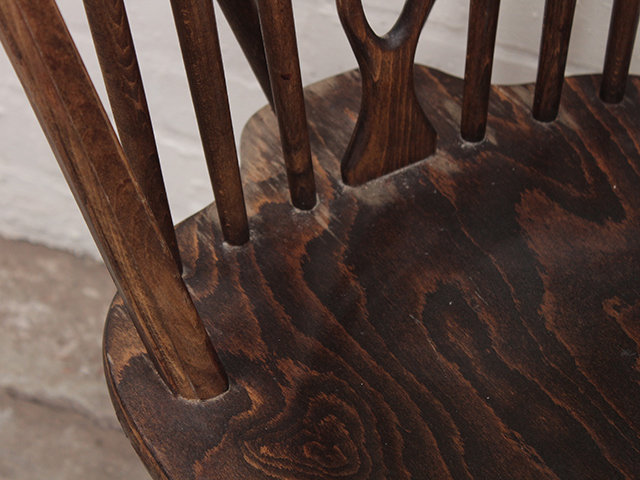 Ercol-Style Elm Dining Chairs (Set of 4) Thumbnail