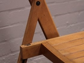 Vintage Folding Hall Chairs (Per Pair) Thumbnail