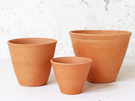 Terracotta Plant Pots Set Of 3 - Tapered Thumbnail
