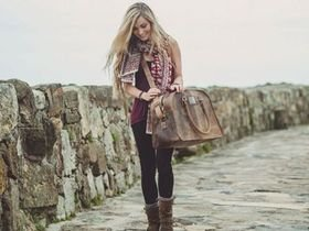 View our Women Large Vintage Leather Travel Holdall Bag from the Women Leather Weekender Bags collection