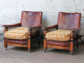 Vintage Leather Armchairs Thumbnail