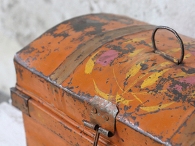 Vintage Orange Travel Case Thumbnail
