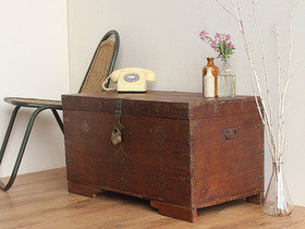 View our  Old Teak Memory Chest from the  Old Wooden Chests, Trunks & Boxes collection