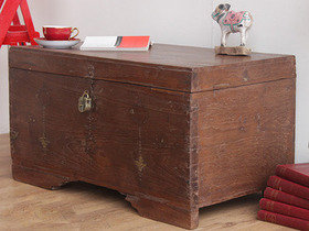 View our  Antique Wedding Chest from the  Old Wooden Chests, Trunks & Boxes collection